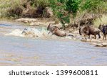crossing kenya. national park.... | Shutterstock . vector #1399600811