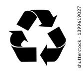 the universal recycling symbol. ... | Shutterstock .eps vector #1399619027