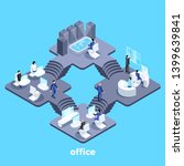 isometric vector image on a... | Shutterstock .eps vector #1399639841