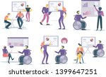 office workers discuss company... | Shutterstock .eps vector #1399647251