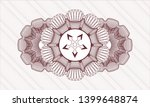 red money style emblem or... | Shutterstock .eps vector #1399648874