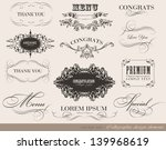 calligraphic menu design... | Shutterstock .eps vector #139968619