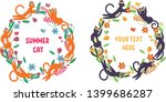 cute and funny vector floral...   Shutterstock .eps vector #1399686287