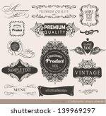 calligraphic design elements ...   Shutterstock .eps vector #139969297