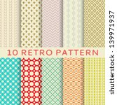 10 retro different vector... | Shutterstock .eps vector #139971937