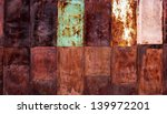 painted rusty scratched grunge... | Shutterstock . vector #139972201