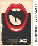 jazz music concert retro poster ... | Shutterstock .eps vector #1399732697