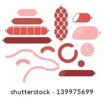 sausage. isolated icons on... | Shutterstock .eps vector #139975699