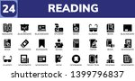 reading icon set. 24 filled...   Shutterstock .eps vector #1399796837
