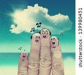 finger family travels at the... | Shutterstock . vector #139980451
