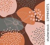 modern abstract art design with ... | Shutterstock . vector #1399843571