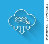 white co2 emissions in cloud... | Shutterstock .eps vector #1399848311