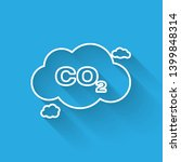 white co2 emissions in cloud... | Shutterstock .eps vector #1399848314
