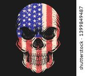 skull usa flag vector... | Shutterstock .eps vector #1399849487