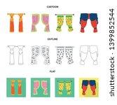 vector illustration of curtains ... | Shutterstock .eps vector #1399852544