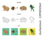 vector illustration of wildlife ... | Shutterstock .eps vector #1399853564