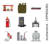 vector illustration of oil and... | Shutterstock .eps vector #1399856381