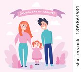 global day of parents  happy... | Shutterstock .eps vector #1399864934
