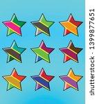 color star icon set   vector...