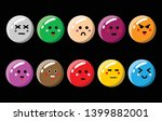 cute cartoon ball icon set  ...