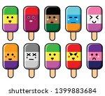 cute cartoon ice cream icon set ...