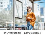 young stylish woman waiting for ... | Shutterstock . vector #1399885817
