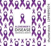 purple ribbon. alzheimers... | Shutterstock .eps vector #1399899374