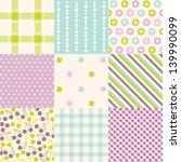 seamless  patterns with fabric... | Shutterstock .eps vector #139990099