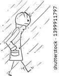 Vector Cartoon Stick Figure...