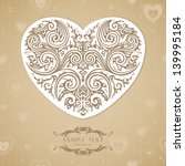 vintage template with... | Shutterstock .eps vector #139995184