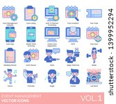 event management icons... | Shutterstock .eps vector #1399952294