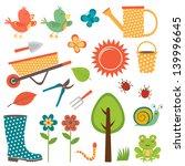 colorful garden set. vector... | Shutterstock .eps vector #139996645