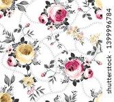 seamless  flowers pattern  on... | Shutterstock .eps vector #1399996784