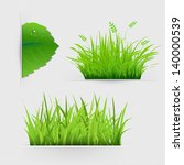 Set Of Dividers With Grass Wit...