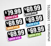 special offer sticker | Shutterstock .eps vector #140000731