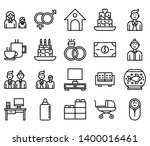 family set icons such as father ... | Shutterstock .eps vector #1400016461