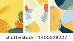 japanese pattern with brush...   Shutterstock .eps vector #1400028227