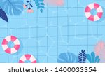 summer pool background vector...