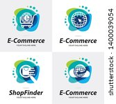 collection of e commerce shop... | Shutterstock .eps vector #1400039054