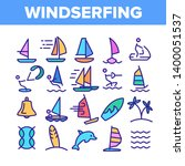 water skiing  windsurfing... | Shutterstock .eps vector #1400051537