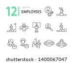 employees icons. line icons... | Shutterstock .eps vector #1400067047