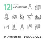 architecture line icon set.... | Shutterstock .eps vector #1400067221