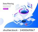 data filtering isometric... | Shutterstock .eps vector #1400069867