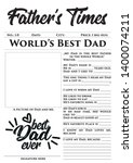 father s times   father's day... | Shutterstock .eps vector #1400074211