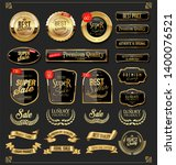 retro golden ribbons labels and ... | Shutterstock . vector #1400076521