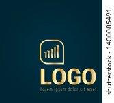 finance chart gold logo concept....