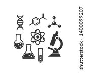 chemistry vector icon set.... | Shutterstock .eps vector #1400099207