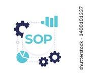 sop  vector illustration on... | Shutterstock .eps vector #1400101337