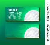 coupon for golf tournament game ... | Shutterstock .eps vector #1400109914
