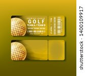 ticket for premier league golf... | Shutterstock .eps vector #1400109917